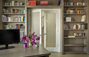 Fitted bookcase for home office/library study room