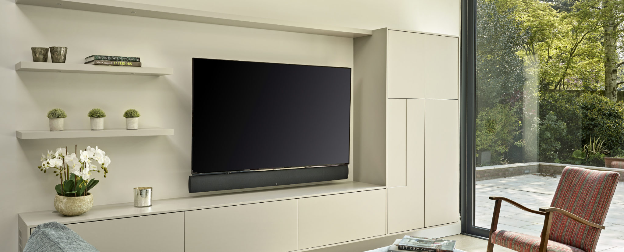 Media wall and TV unit for Wimbledon project