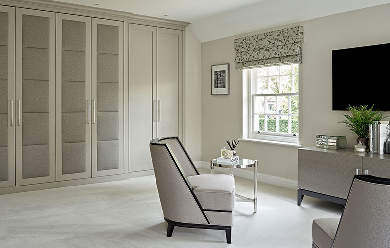 Fitted and bespoke furniture for Luxury master bedroom in Surrey