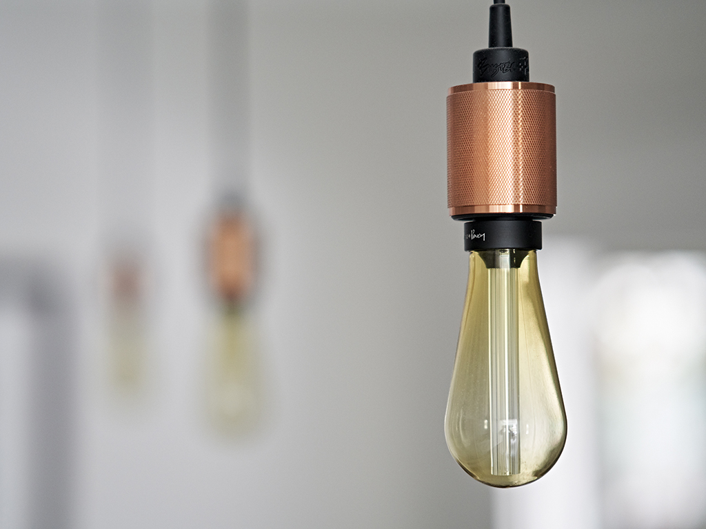 Buster and Punch copper vintage pendant light for putney kitchen