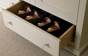 Bottom shoe storage drawer - custom made bedroom furniture