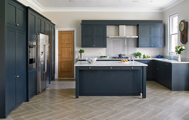 Farrow And Ball Black Blue Kitchen