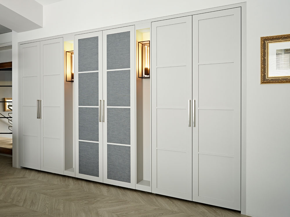 Bespoke White Wardrobes Display at the Brayer Design Studio