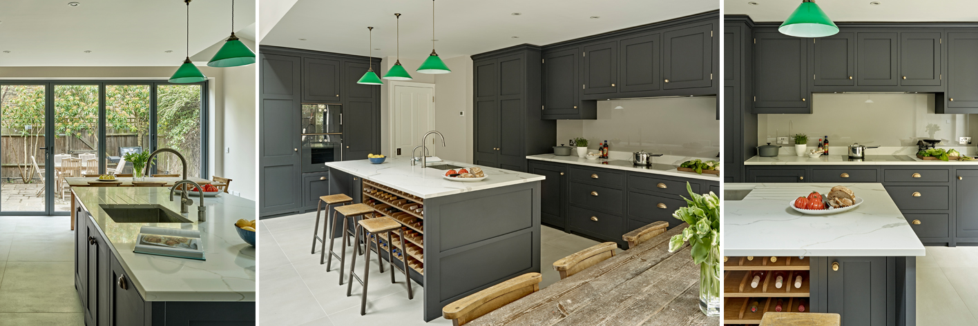 Dark Grey Kitchen Design Battersea Brayer Design Kitchens