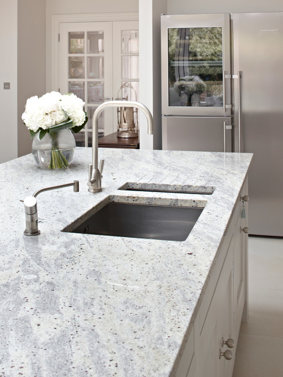 Kashmir white granite worktop for Surrey Country Kitchen design