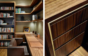 Dark wood retro study/custom home office furniture